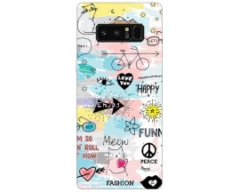 Husa Silicon Soft Upzz Print Samsung Galaxy Note 8 Model Meow