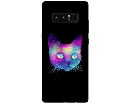 Husa Silicon Soft Upzz Print Samsung Galaxy Note 8 Model Neon Cat