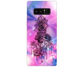 Husa Silicon Soft Upzz Print Samsung Galaxy Note 8 Model Neon Rose