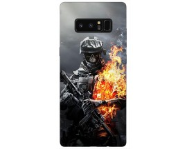 Husa Silicon Soft Upzz Print Samsung Galaxy Note 8 Model Solider