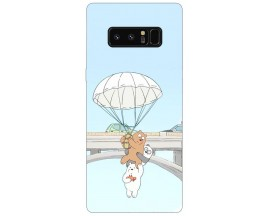 Husa Silicon Soft Upzz Print Samsung Galaxy Note 8 Model Three Bears