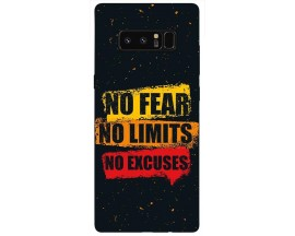 Husa Silicon Soft Upzz Print Samsung Galaxy Note 8 Model No Fear