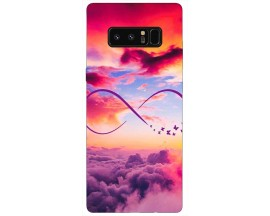 Husa Silicon Soft Upzz Print Samsung Galaxy Note 8 Model Infinity