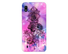 Husa Silicon Soft Upzz Print Samsung Galaxy A10 Model Neon Rose