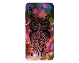 Husa Silicon Soft Upzz Print Samsung Galaxy A10 Model Sparkle Owl