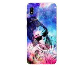 Husa Silicon Soft Upzz Print Samsung Galaxy A10 Model Universe Girl