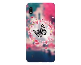 Husa Silicon Soft Upzz Print Samsung Galaxy A10 Model Butterfly