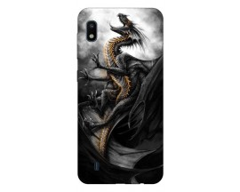 Husa Silicon Soft Upzz Print Samsung Galaxy A10 Model Dragon 1