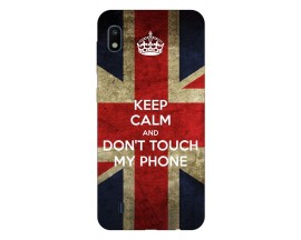 Husa Silicon Soft Upzz Print Samsung Galaxy A10 Model Keep Calm