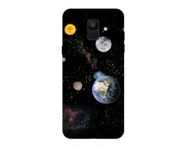 Husa Silicon Soft Upzz Print Samsung A6 2018 Model Earth