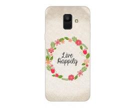 Husa Silicon Soft Upzz Print Samsung A6 2018 Model Happily
