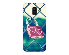 Husa Silicon Soft Upzz Print Samsung A6 2018 Model Heart Lock