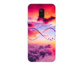 Husa Silicon Soft Upzz Print Samsung A6 2018 Model Infinity