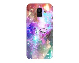 Husa Silicon Soft Upzz Print Samsung A6 2018 Model Neon Love