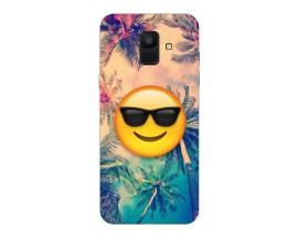 Husa Silicon Soft Upzz Print Samsung A6 2018 Model Smile