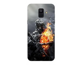 Husa Silicon Soft Upzz Print Samsung A6 2018 Model Soldier