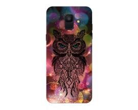 Husa Silicon Soft Upzz Print Samsung A6 2018 Model Sparkle Owl