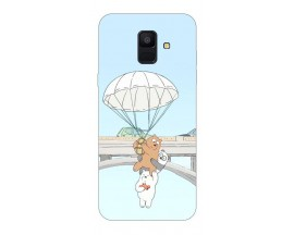 Husa Silicon Soft Upzz Print Samsung A6 2018 Model Three Bears