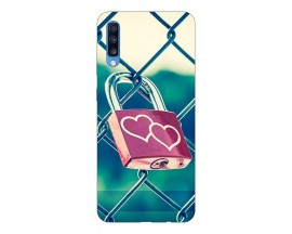Husa Silicon Soft Upzz Print Samsung A70 Model Heart Lock