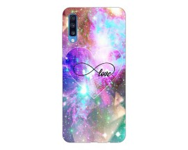 Husa Silicon Soft Upzz Print Samsung A70 Model Neon Love
