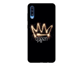 Husa Silicon Soft Upzz Print Samsung A70 Model Queen
