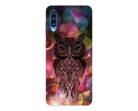 Husa Silicon Soft Upzz Print Samsung A70 Model Sparkle Owl
