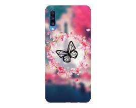 Husa Silicon Soft Upzz Print Samsung A70 Model Butterfly