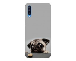 Husa Silicon Soft Upzz Print Samsung A70 Model Dog
