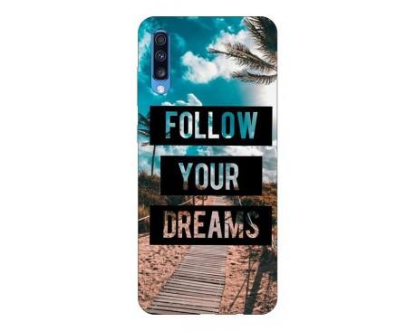 Husa Silicon Soft Upzz Print Samsung A70 Model Dreams