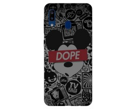 Husa Silicon Soft Upzz Print Samsung Galaxy A20 Model Dope
