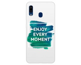 Husa Silicon Soft Upzz Print Samsung Galaxy A20 Model Enjoy