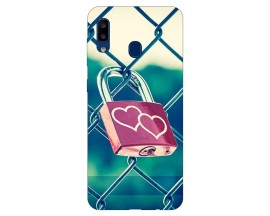 Husa Silicon Soft Upzz Print Samsung Galaxy A20 Model Heart Lock