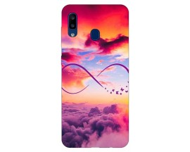 Husa Silicon Soft Upzz Print Samsung Galaxy A20 Model Infinity
