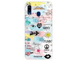 Husa Silicon Soft Upzz Print Samsung Galaxy A20 Model Meow