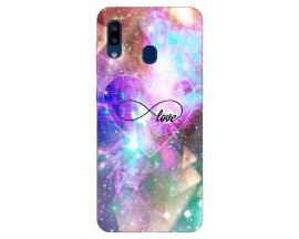 Husa Silicon Soft Upzz Print Samsung Galaxy A20 Model Neon Love