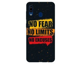 Husa Silicon Soft Upzz Print Samsung Galaxy A20 Model No Fear