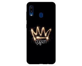 Husa Silicon Soft Upzz Print Samsung Galaxy A20 Model Queen