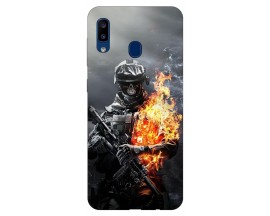 Husa Silicon Soft Upzz Print Samsung Galaxy A20 Model Solider
