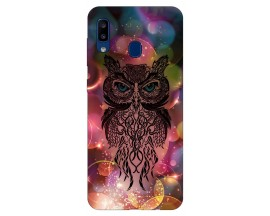 Husa Silicon Soft Upzz Print Samsung Galaxy A20 Model Sparkle Owl