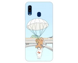 Husa Silicon Soft Upzz Print Samsung Galaxy A20 Model Three Bears