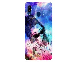 Husa Silicon Soft Upzz Print Samsung Galaxy A20 Model Universe Girl