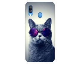 Husa Silicon Soft Upzz Print Samsung Galaxy A40 Model Cool Cat