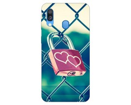 Husa Silicon Soft Upzz Print Samsung Galaxy A40 Model Heart Lock