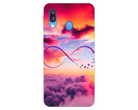Husa Silicon Soft Upzz Print Samsung Galaxy A40 Model Infinity
