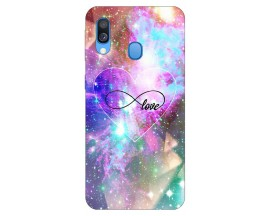 Husa Silicon Soft Upzz Print Samsung Galaxy A40 Model Neon Love