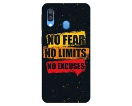 Husa Silicon Soft Upzz Print Samsung Galaxy A40 Model Fear