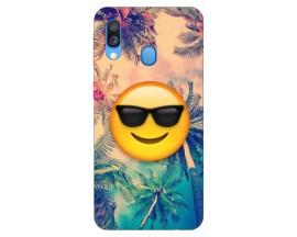 Husa Silicon Soft Upzz Print Samsung Galaxy A40 Model Smile