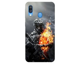 Husa Silicon Soft Upzz Print Samsung Galaxy A40 Model Solider