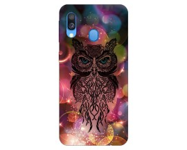 Husa Silicon Soft Upzz Print Samsung Galaxy A40 Model Sparkle Owl