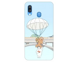 Husa Silicon Soft Upzz Print Samsung Galaxy A40 Model Three Bears